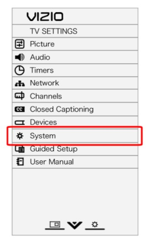 Navigate to the one of the menus called System and choose OK
