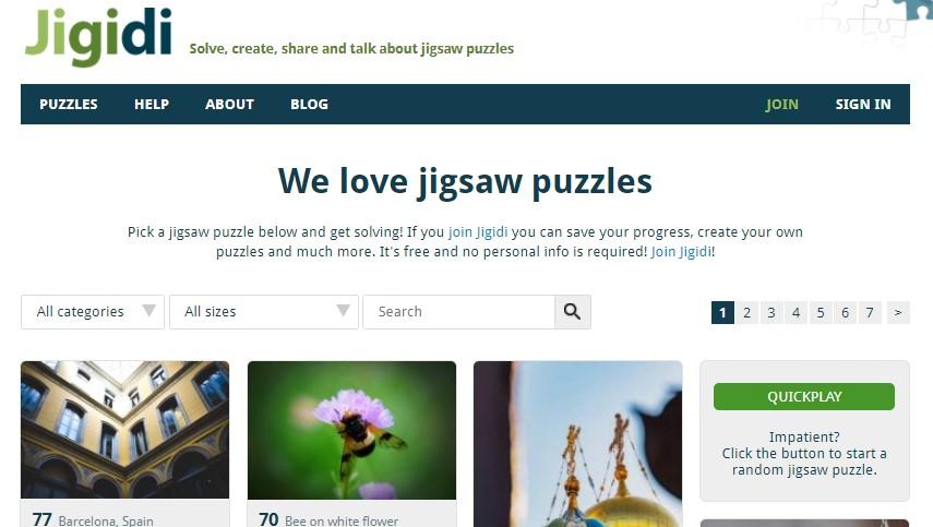 PLAYING JIGIDI FREE JIGSAW PUZZLES ONLINE SMALL & MEDIUM