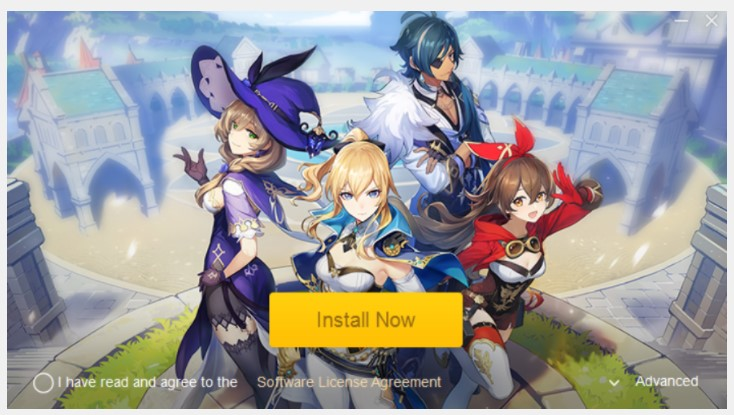 Please click on Windows to download the installation of Genshin Impact game