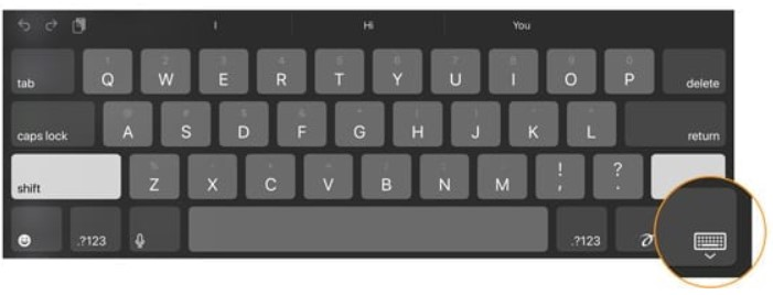 Please locate the keyboard button in the bottom right corner of your keyboard.