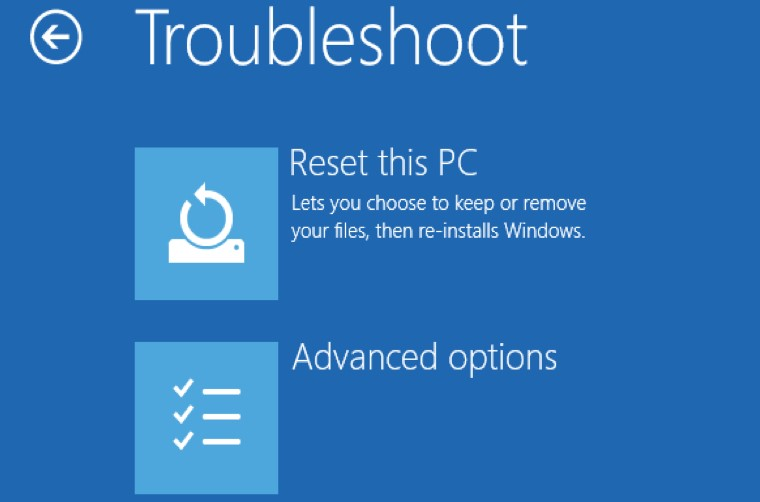Restore the PC back to the newest restore point, snapshot, or backup image before error appeared