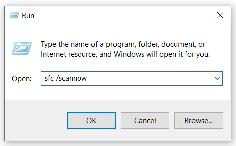 Run System File Checker To Restore The Corrupt Or Missing Applicationframehost.Exe File.