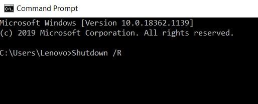 Shutdown R