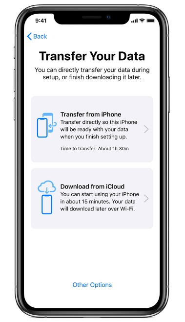 Transfer Data From One Iphone To Another Via Quick Start1