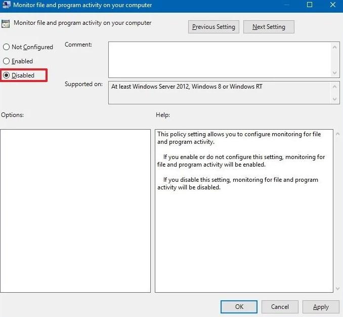 Windows Defender should be disabled instantly