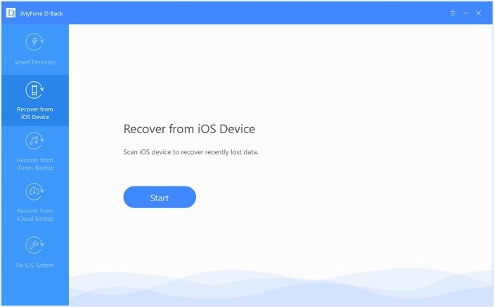 choose Recover from the iCloud backup option