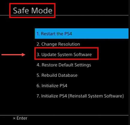 choose Update System Software