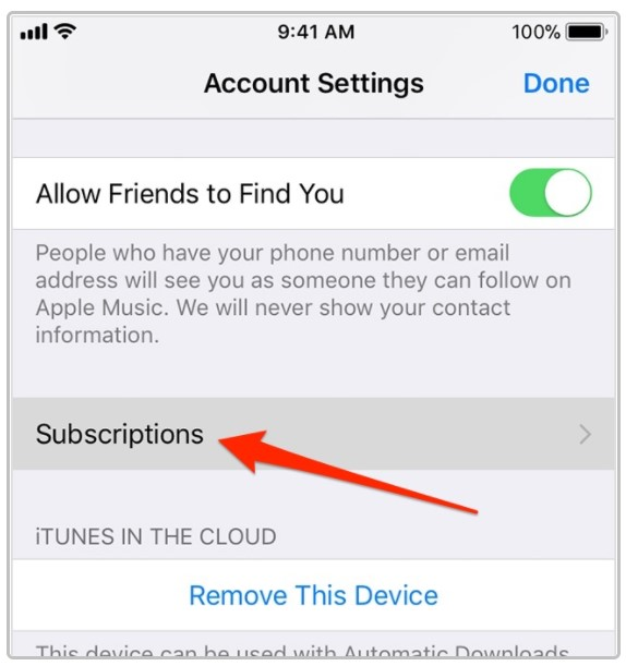 choose the subscription that you want to manage