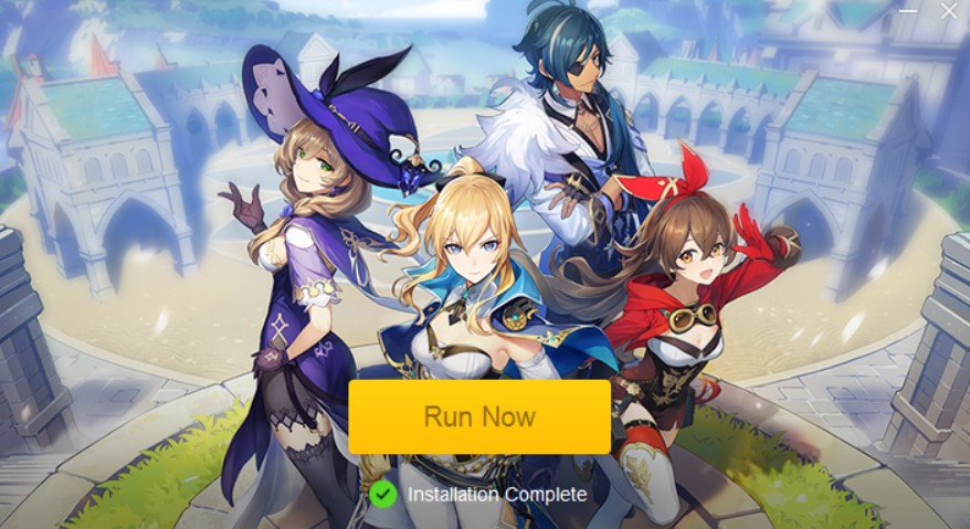 click on the Run Now button to start the game downloader