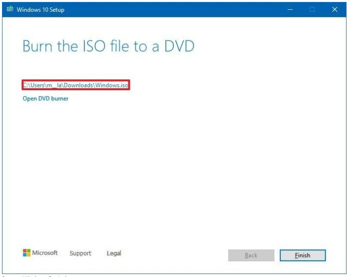click the link to open the file location