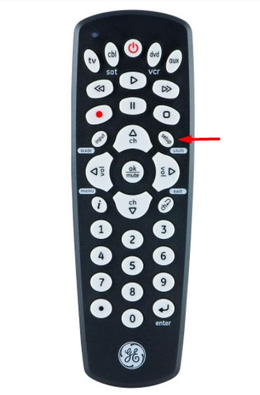 find the Setup button on your GE remote