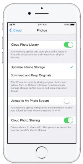 iCloud Photo Library make it switched off.