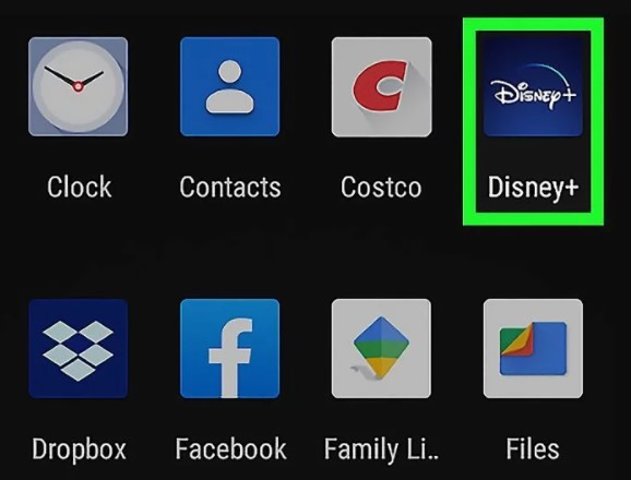 log into your Disney Plus app from your smartphone or tablet