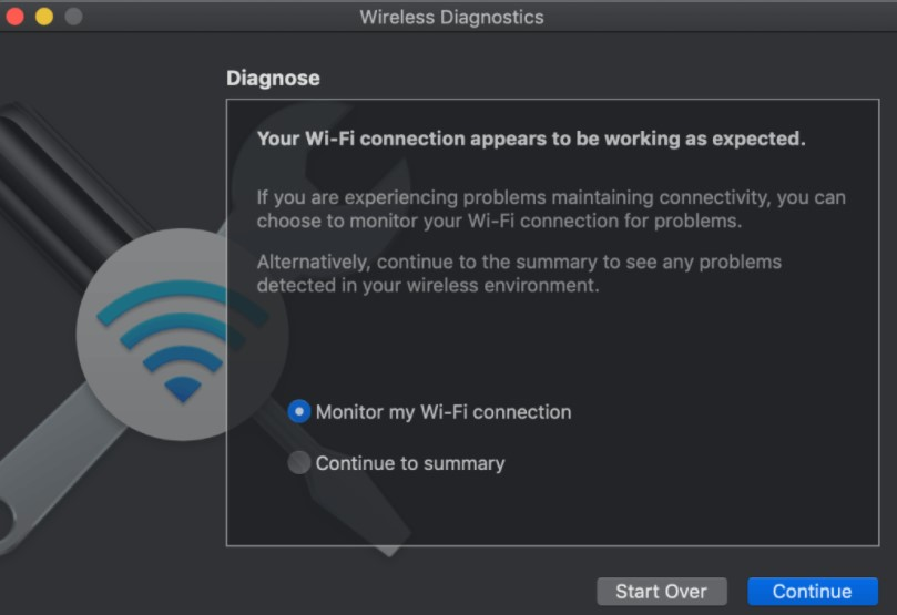 monitoring the signal strength display on your wireless-enabled laptop or smartphone