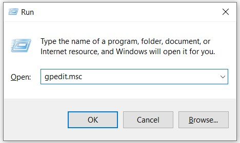 press Windows key + R and then you have to type gpedit.msc