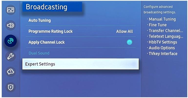 select Broadcasting.