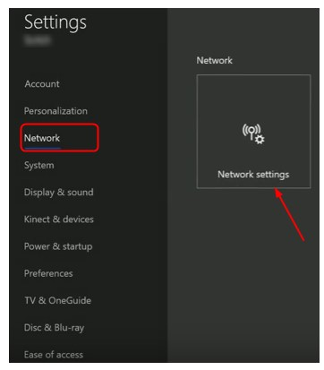 select Network Settings