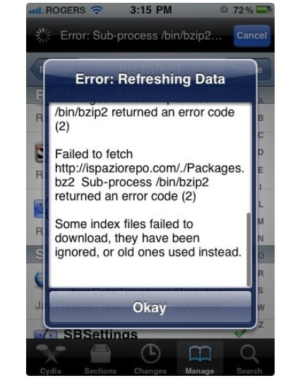 sub process bin bzip2 returned an error code 2 metadata.plist