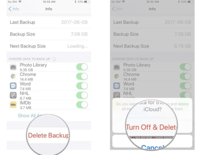 you can tap Turn Off & Delete