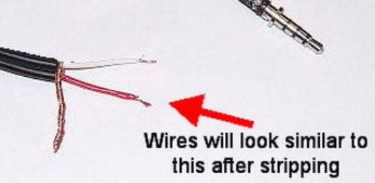 , you have to strip back the wire shielding on both sides to expose the wires