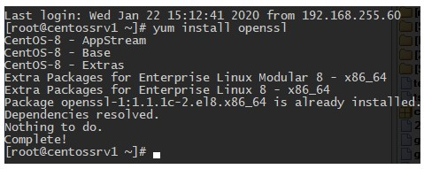 yum install openssl