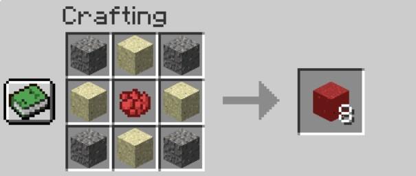 Add Items to make Red Concrete Powder