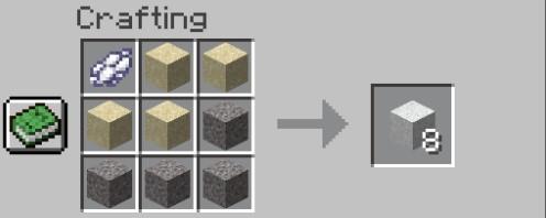 Add Items to make White Concrete Powder