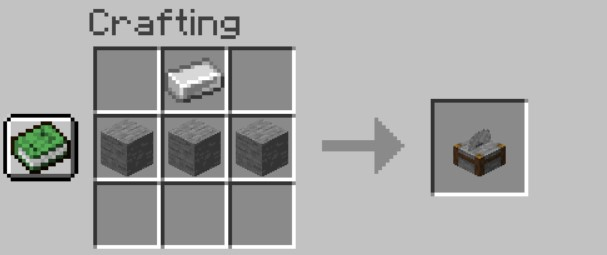 Add Items to make a Stonecutter