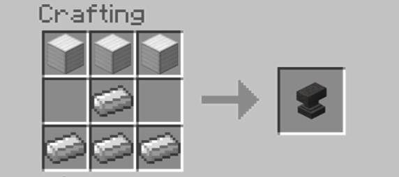 Add Items to make an Anvil