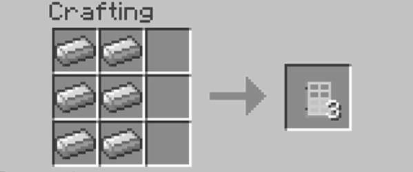 Add Items to make an Iron Door