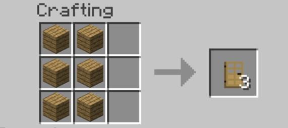 Add Items to make an Oak Door