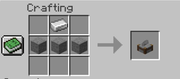 Add the Items to craft a Stonecutter.