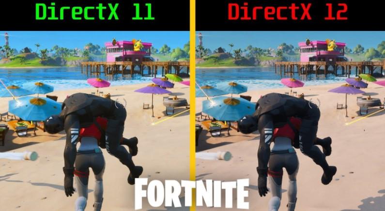 Comparison Performance of Fortnite DX11 vs DX12