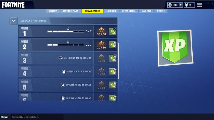 Complete Daily and Weekly Challenges
