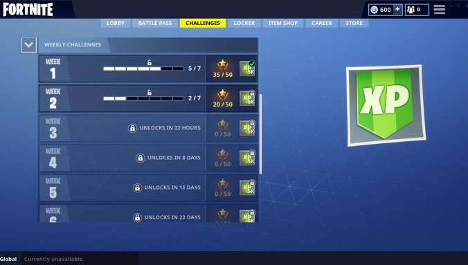 Complete in-game Challenges - both Daily and Weekly