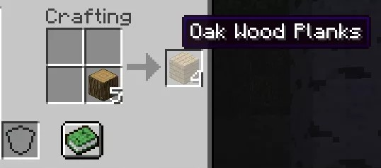 Craft the wooden planks