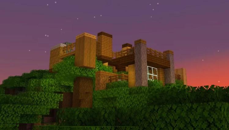 Dark Oak Treehouse [Small Modern Build] by sarlas-dom