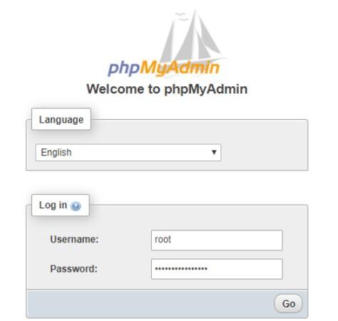 Default phpMyAdmin Username And Password