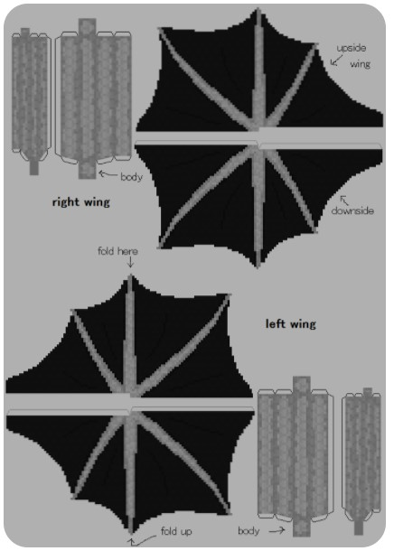 Ender Dragon Skin Template with Wings