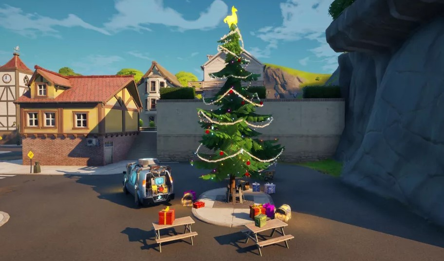 Fortnite Christmas Holiday Trees All