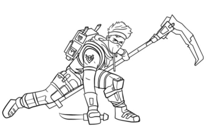 Fortnite Coloring Pages Ninja Character 1