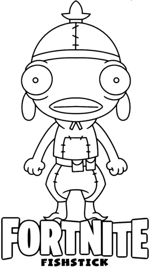 Fortnite Fishstick Coloring Pages