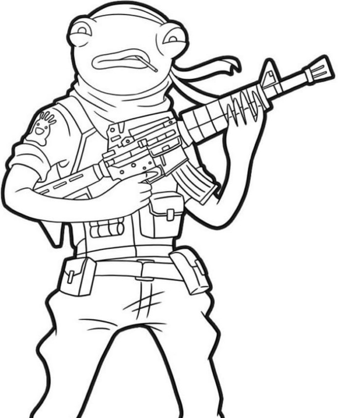 Fortnite Coloring Pages Fishstick Let's Learn And Do! AlfinTech Computer