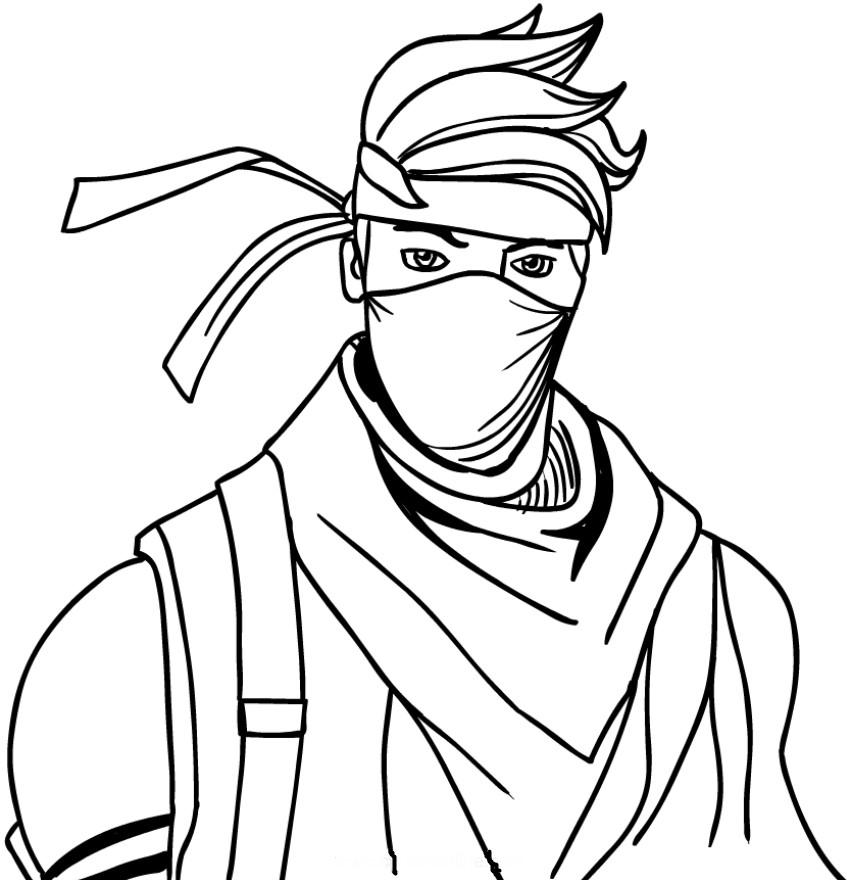 Fortnite Ninja Coloring Pages 1