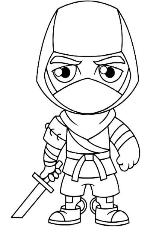 Fortnite Ninja Coloring Pages 2