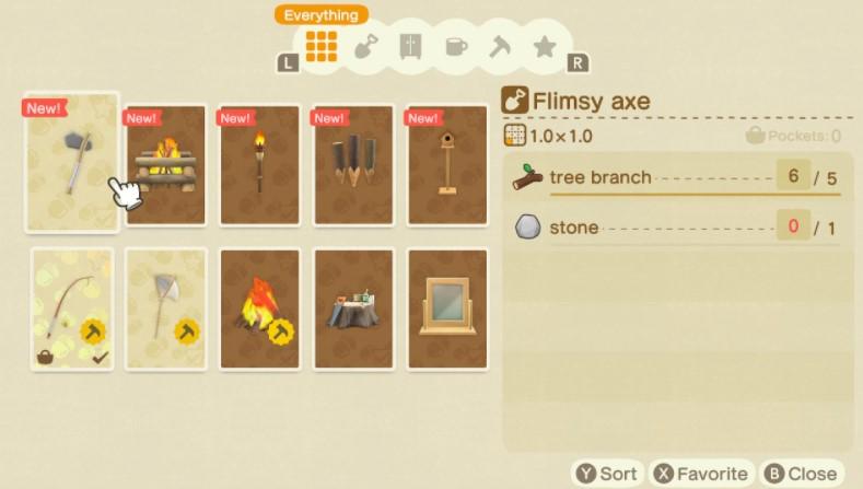 How do you upgrade the axe