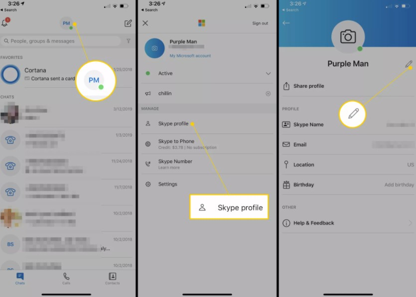How to Change Skype Name Live ID on Android or iPhone