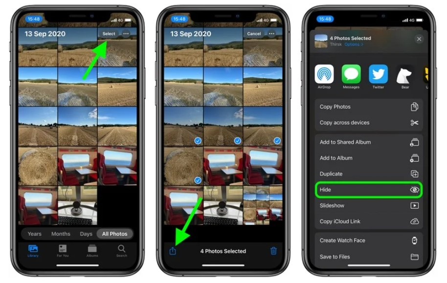How to Hide Photos and Videos on iOS 14 without Any Apps