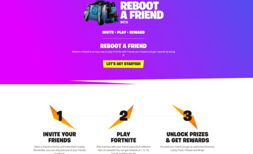 How to Join Reboot a Friend Fortnite in Epic Games Website