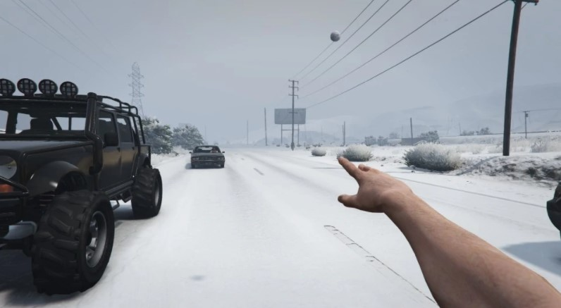 How to Throw Snowballs in GTA